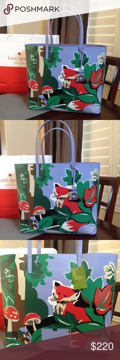 KATE SPADE FOX LEN TOTE Brand new with ages Kate Spade FOX Len tote. Blaze a trail collection. Smoke/pet free home. kate spade Bags Totes