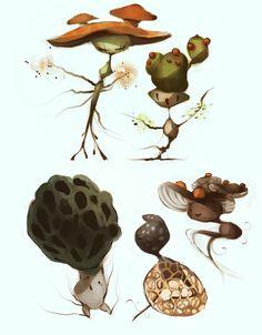 mushroom fairies by CoconutMilkyway