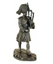 Pipe Major Bronze Figure