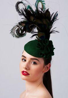 Winter wedding headpiece by Carrie Jenkinson