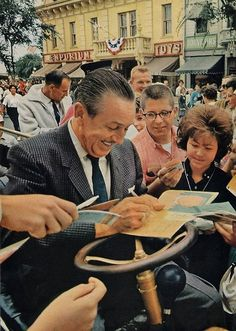 Walt Disney- those people have no idea how luck they were to live when unlce walt did.