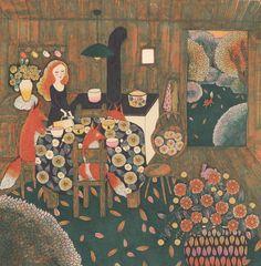 (via Fanny Ducassé - Le chocolat chaud Art And Illustration, Illustrations, Art Altéré, Art Magique, Ouvrages D'art, Jolie Photo, Pattern Art, Altered Art, Vintage Posters