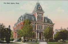 Early 1900's Old Historic City Hall Building in Ogden Utah