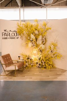 The stunning One Fine Day Wedding Fair in Perth. Amazing event styling and class… , - corporate event design Corporate Event Design, Corporate Style, Wedding Fair, Wedding Stage, Wedding Backdrop Design, Wedding Decorations, Classic Wedding Gowns, One Fine Day, Yellow Wedding