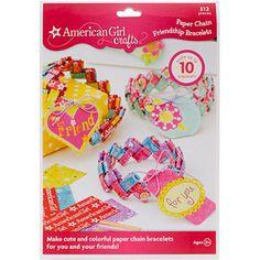 American Girl Friendship Bracelet Kit, Paper Chain $6.85