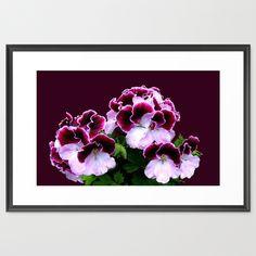 Pink, Purple, Flower Power Framed Art Print