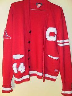 Sweater plus hipster grunge prep oversized red cardigan lettermans 2XL #hipster,#cardigan,#lettermans,#vintage,#sweater,#mens