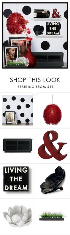 """Untitled #9711"" by queenrachietemplateaddict ❤ liked on Polyvore featuring interior, interiors, interior design, home, home decor, interior decorating, Chasing Paper, Varaluz, TemaHome and Dot & Bo"