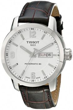 c11e65cd216 men watches  Review for Tissot Men s T0554301601700 PRC 200 Stainless Steel  Watch with Brown Leather