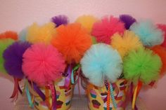 LaLaLoopsy Puff Wands - Candy Land Party - Solid Colors -  Half Dozen on Etsy, $36.00