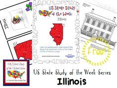 US State Study of the Week Weekly Series FREE Illinois Pack #statestudy #freeprintable #homeschool