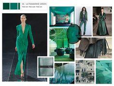 Ultramarine Green: Pantone 2012 Fall Color Mood Boards by Amber Podratz, via Behance
