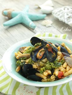 Cavatelli mussels and clams with turnips... a typical Apulian Recipes!!! OMG!!!!