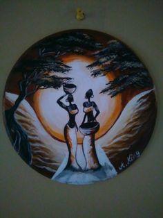African moon (by Stella Gemella) - Painting African Artwork, African Art Paintings, Paint Brush Art, Afrique Art, Art Painting Gallery, Surrealism Painting, Black Artwork, African American Art, Mural Art