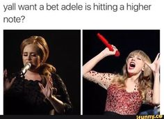 Adele, funny, and singers image. Well do ya?