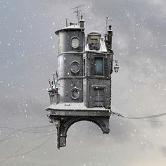 The town that took off: Laurent Chehere's flying houses – in pictures