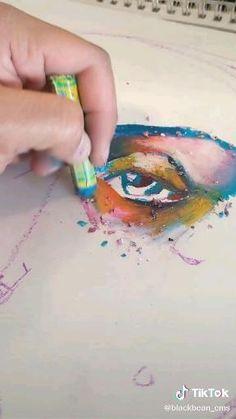 Oil Pastel Art, Oil Pastel Crayons, Oil Pastels, Art Painting Gallery, Art Drawings Sketches Simple, Art Sketchbook, Crayon Art Tutorials, Art Lessons, Watercolor Art