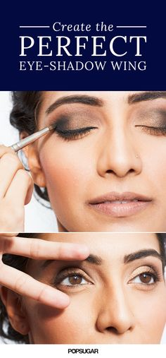 Want to create the perfect winged eye shadow look? This easy beauty hack will show you how!