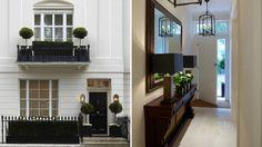 Diferença das texturas nas paredes porém simples Lovely entrance