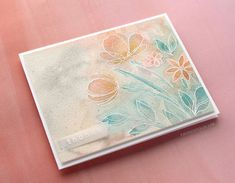 Soft Watercolor with Heat Embossed Flowers – kwernerdesign blog