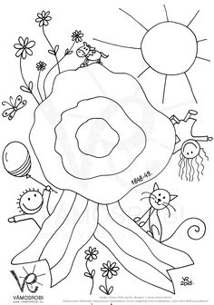 V Coloring For Kids, Coloring Pages, Nemo, Doodle Drawings, Summer Fun, Origami, Kindergarten, Crafts For Kids, Doodles