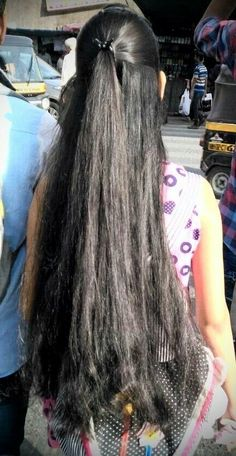 Long Silky Hair, Long Black Hair, Very Long Hair, Dark Hair, Shiny Hair, Indian Hair Cuts, Indian Long Hair Braid, Long Hair Ponytail, Braids For Long Hair