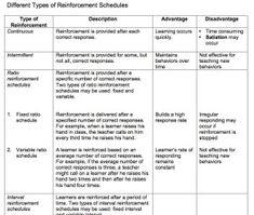 Different Types of Reinforcement Schedules