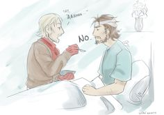"""""""But someone has to take care of you, John.""""""""I didn't know you work as a nurse now"""" - credit to shiroi-raven.tumblr.com"""