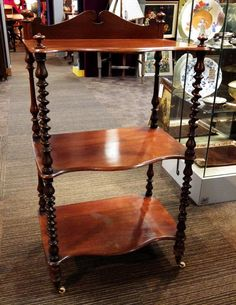 ANTIQUE Victorian Mahogany BUFFET WHATNOT