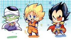 Piccoro , Goku y vegeta - Dragon Ball by mr. Dragon Ball Z, Dragon Z, Anime Chibi, Kawaii Anime, Anime Manga, Goku Y Vegeta, Ball Drawing, Dbz Characters, Dragon Images