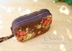 Vak na zip, model dvojité malé kabelky výroby kurzu (1) - SewLover šití umění školní taška návod |
