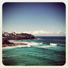 Towards Bondi... #coastal #walk #atbondi #bondi #coast #view #ocean #sea #waves #australia #sun #sydney #sights #headland