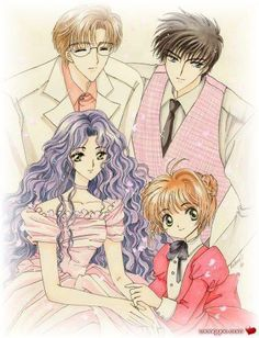 The Kinomoto family from CLAMP's Cardcaptor Sakura