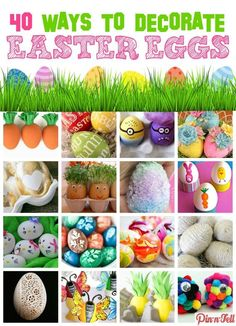 40 AWESOME Ways to Decorate Easter Eggs