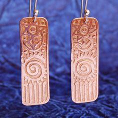 Etched Copper jewelry   Etched Copper Earrings 3