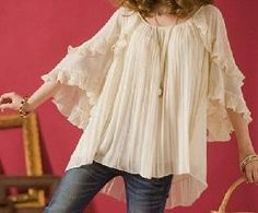 FREE SHIPPING Special Design High Quality Blouse Apricot      SOOOO cute!
