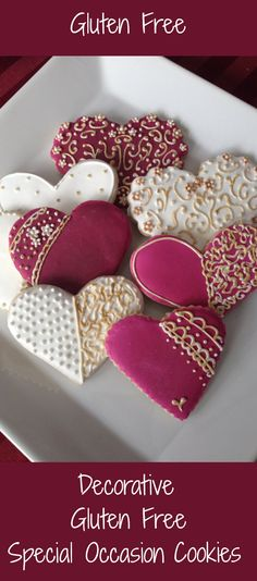 Decorated GLUTEN FREE Cookie Would make a great Valentine's gift or perfect for any special occasion.  #ad #valentinesday #bridalshowerideas