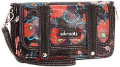 The SAK Roots Convertible Flap Wallet,Black Peace,One « Clothing Impulse