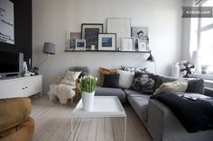 Graphic room in design apartment in Oslo