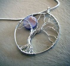 Tree of Life pendant with moon