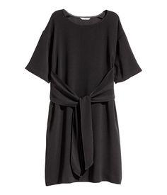 Nauhavöinen mekko | Musta | Naiset | H&M FI
