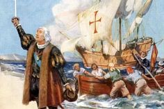 What Christopher Columbus Discovered on His First New World Voyage Pictures Of Christopher Columbus, American History, Native American, Columbus Day, Conquistador, Military History, North America, Old Things, Explore