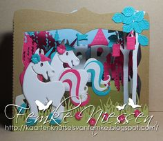 kaartenknutsels van femke: Designer of the month MD card magical unicorns Kids Cards, Baby Cards, My Pretty Pony, Marianne Design Cards, Horse Cards, Unicorn Invitations, Craft Punches, Magical Unicorn, Tag Design