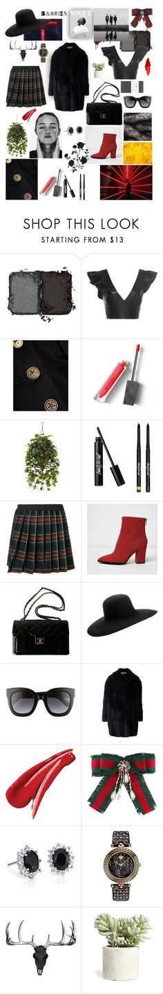 """""""Style with a tartan skirt, black hat"""" by jenasrrp ❤ liked on Polyvore featuring NARS Cosmetics, Isabel Marant, Caroline Constas, Burberry, P.A.R.O.S.H., River Island, Chanel, Maison Michel, Gucci and McQ by Alexander McQueen"""