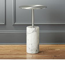 Cuff Link Marble Side Table-We love evertyhing about this table, including it's adorable and fitting name from @cb2pins