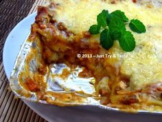 Just Try & Taste: Lasagna Meleleh a la Sintya: Super Mudah! Halal Recipes, Pasta Recipes, Snack Recipes, Cooking Recipes, Recipe Pasta, Western Food, Savory Snacks, Cheesecake Recipes, Pasta Dishes