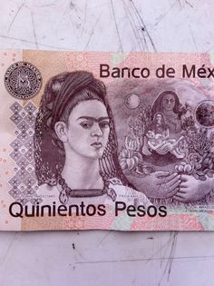 Frida on Mexican paper money Frida E Diego, Frida Kahlo Diego Rivera, Frida Art, Kahlo Paintings, Mexican Artists, Naive Art, Mo S, Women In History, Artist Art