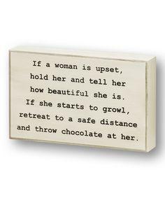 'If a Woman is Upset' Wall Sign #zulily #zulilyfinds