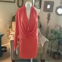 📬FREE SHIPPING📬 NWT BLACK HALO ORANGE DRESS New with tags.  Sexy rust color.  One shoulder. BLACK HALO Dresses One Shoulder