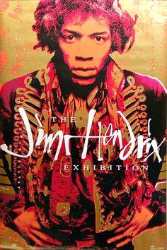 Jimi Hendrix The Exhibition 1992 Music Poster 23x35
